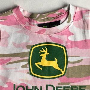 John Deere Shirts & Tops - John Deere shirt size 24 months pink camouflage